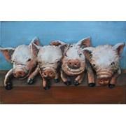 Fountasia Wall Art- Peeping Pigs Small (93764)